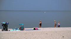 Sunny summer beach (8 of 10) Stock Footage