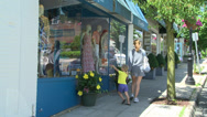 Stock Video Footage of Window shopping with the kids (1 of 1)
