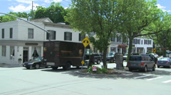 Town crossroads (10 of 13) Stock Footage
