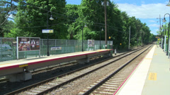Locust Valley train station (2 of 4) Stock Footage