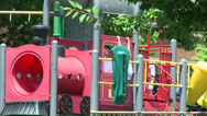 Stock Video Footage of Young kids playing on a playground (1 of 1)
