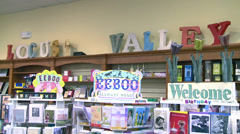 Inside a small shopping boutique (5 of 7) Stock Footage