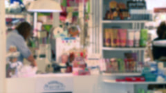 Inside a small shopping boutique (4 of 7) - stock footage