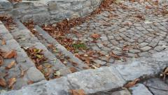 Cobbled alley Stock Footage