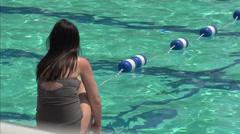 Club swimming pool (8 of 8) - stock footage