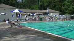 Club swimming pool (1 of 8) - stock footage