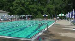 Club swimming pool (7 of 8) - stock footage