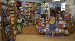 Town bookstore (1 of 1) Stock Footage