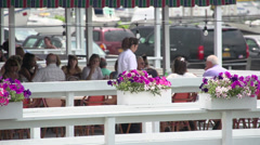 Dining in the fresh air (1 of 2) Stock Footage