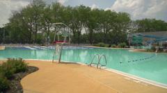 Club swimming pool (2 of 8) - stock footage