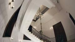 Wrought iron staircase Stock Footage