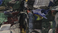 Stock Video Footage of Compacted recyclables (2 of 5)