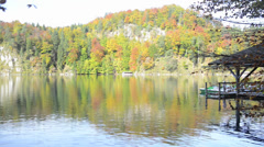 Alpsee in Fall, sea in Hohenschwangau near Munich in Bavaria, Germany Stock Footage