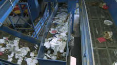 Functional trash conveyor system (4 of 10) - stock footage