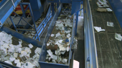 Functional trash conveyor system (5 of 10) - stock footage
