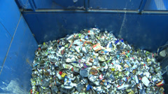 Pile of crushed cans (4 of 5) - stock footage