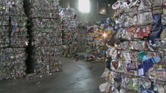 Compacted trash stacks (1 of 1) - stock footage