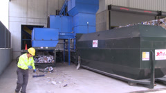Recycling factory workers (7 of 10) Stock Footage