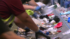 Recycling factory workers (8 of 10) Stock Footage