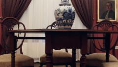 Vintage house dining room Stock Footage