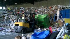 Bulldozer handling waste (4 of 9) - stock footage