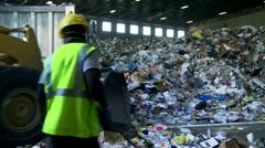 Bulldozer handling waste (7 of 9) - stock footage