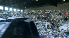 Bulldozer handling waste (8 of 9) - stock footage