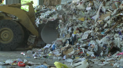 Bulldozer handling waste (6 of 9) - stock footage