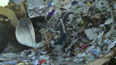 Bulldozer handling waste (5 of 9) - stock footage