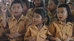 Jungle Kids Singing and Dancing, Indonesia Stock Footage