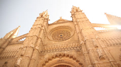 Cathedral of mallorca Stock Footage
