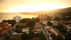 Sunset in Mallorca with the Mediterranean Stock Footage