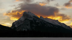 Mount Rundle Sunrise Stock Footage