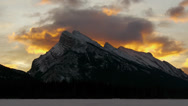 Stock Video Footage of Mount Rundle Sunrise