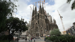 Barcelona La Sagrada Familia Stock Footage