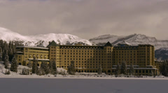 Chateau Lake Louise Winter Stock Footage