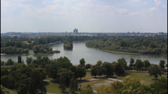 Stock Video Footage of Serbia, Belgrade, river confluence