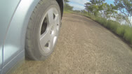 Stock Video Footage of GoPro KNP Driving Audi Back Wheel 02