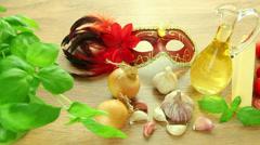 Italian cuisine food ingredients Stock Footage