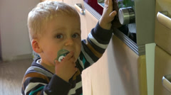 blond baby child - stock footage