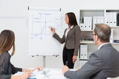 Team leader giving a presentation Stock Photos