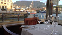 Restaurant view of Cape Town. Stock Footage