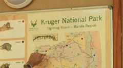 KNP Sightings Board Tourists (we film with permission inside National Parks, Stock Footage
