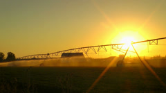 Agriculture Field Sprinkler Stock Footage