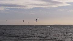four kite surfers - stock footage