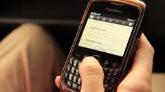 Phone BlackBerry Twitter OP news Stock Footage