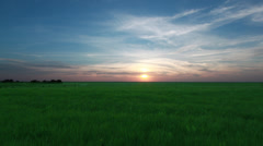 089 Flint Hills Sunset Stock Footage