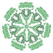green laural wreath - stock illustration