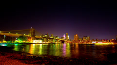186 New York from Dumbo Stock Footage