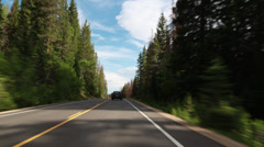 123 Driving through the Rockies Stock Footage